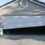 Crashed Garage Door